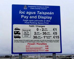 Doolin Pier Parking notice