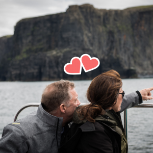 Romance on a Cliffs of Moher Cruise