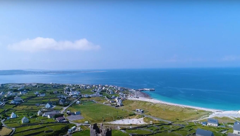 Inis Oirr Island Aerial View